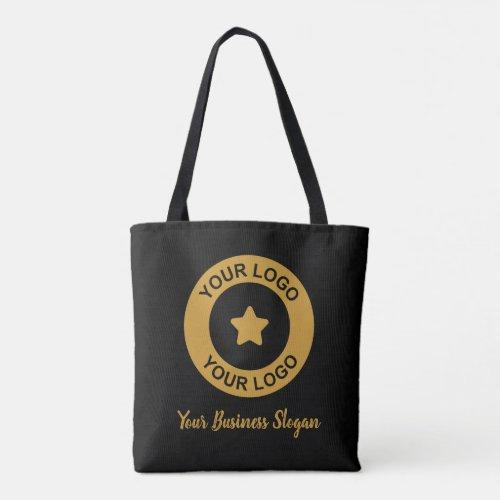 Custom Business Logo And Slogan Promotional Black Tote Bag
