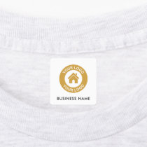 Custom Business Logo and Text Fabric Clothing Labels