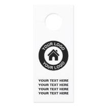 Custom Business Logo And Text Promotional Door Hanger