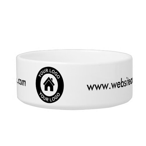 Custom Business Logo and Website Promotional Pet Bowl