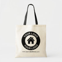 Custom Business Logo And Website Promotional Tote Bag