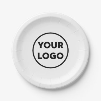 Custom Business Logo Company Event Paper Plate