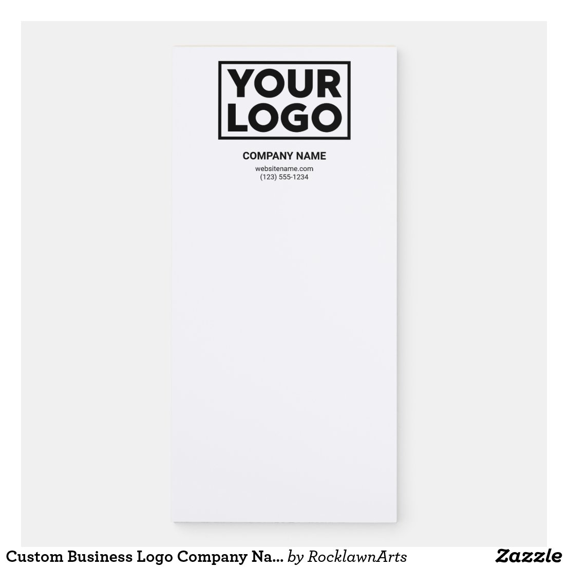 Custom Business Logo Company Name Contact Info Magnetic Notepad