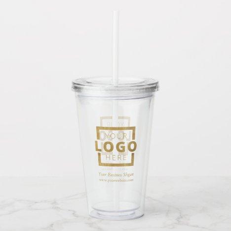 Custom Business Logo Company Promotional Acrylic Tumbler