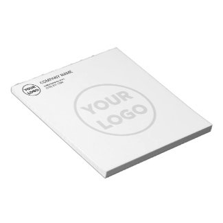 Custom Business Logo Contact Info Big Faded Logo Notepad