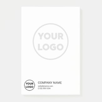 Custom Business Logo Contact Info Large Faded Logo Post-it Notes