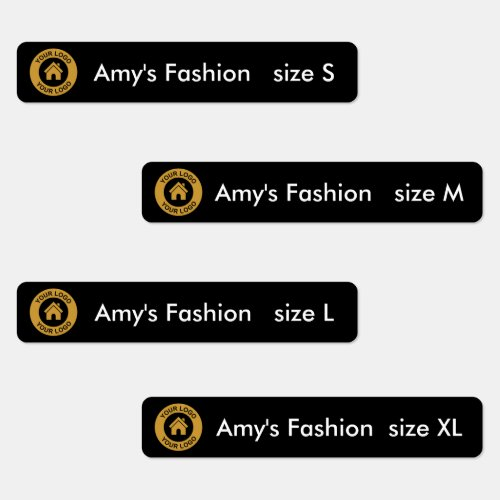 Custom Business Logo Four Text Options Clothing Labels