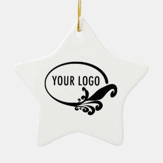 Custom Business Logo Holiday Ornament