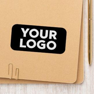 Custom Business Logo on Black Branded Rectangle Patch