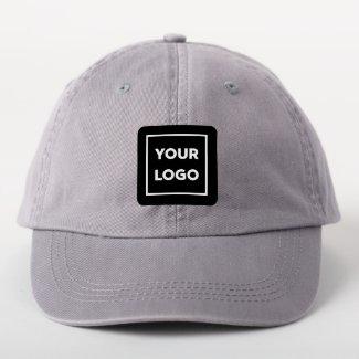 Custom Business Logo on Black Branded Square Patch