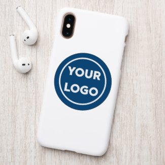 Custom Business Logo on Blue Branded Circle Patch