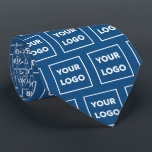 "Custom Business Logo Pattern on Blue 2 Sided Neck Tie<br><div class=""desc"">Create your own branded professional business tie featuring your company logo in a repeating pattern on a blue background on both sides. Replace the sample logo with your own in the sidebar. Your logo can be circular, square, or another shape. Upload a version on a transparent background if you want...</div>"
