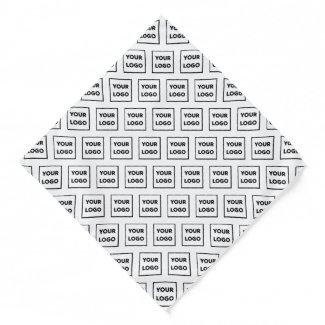 Custom Business Logo Pattern on White Bandana