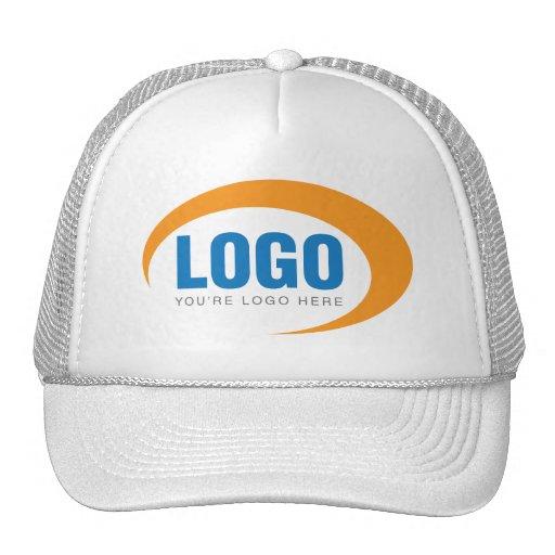 custom business logo trucker hat zazzle