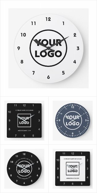 Custom Business Logo Wall Clocks