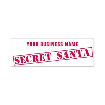 Professional Business Custom Business Name Secret Santa Rubber Stamp