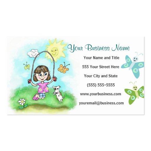 Custom Business / Profile Cards - Summer Camp Business Card Template