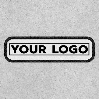 Custom Business Wide Logo Branded Rectangle Patch