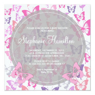 butterfly baby shower invitations  announcements  zazzle, Baby shower