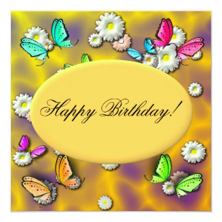 Custom Butterfly Birthday Invitation