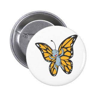 Custom Butterfly Monarch Cartoon Shirt 2 Inch Round Button