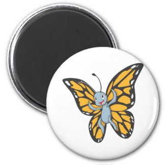 Custom Butterfly Monarch Cartoon Shirt 2 Inch Round Magnet