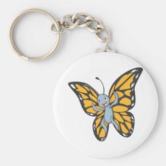 Custom Butterfly Monarch Cartoon Shirt Basic Round Button Keychain