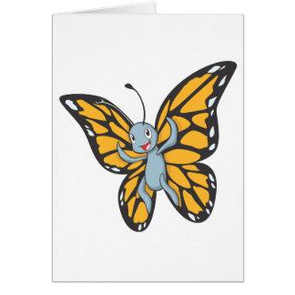Custom Butterfly Monarch Cartoon Shirt Greeting Card