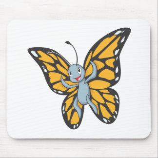 Custom Butterfly Monarch Cartoon Shirt Mouse Pad