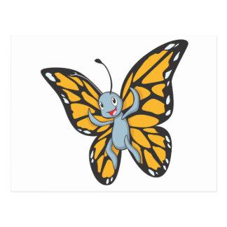 Custom Butterfly Monarch Cartoon Shirt Postcard