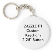 Custom Button Keychain Key Ring Blank Template