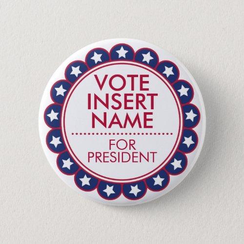 Custom Button Pin Vote Election Political Campaign