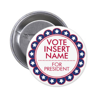 Custom Button Pin Vote Election Political Campaign