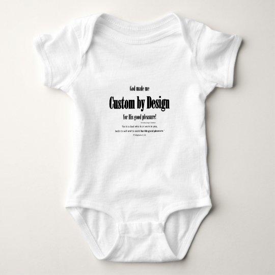 custom by design baby bodysuit