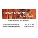 Custom Cabinets and Woodworking Business Card