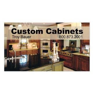 Custom Cabinets - Carpenter, Home Improvement Business Card