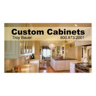 Custom Cabinets - Carpenter, Home Improvement Business Card Templates