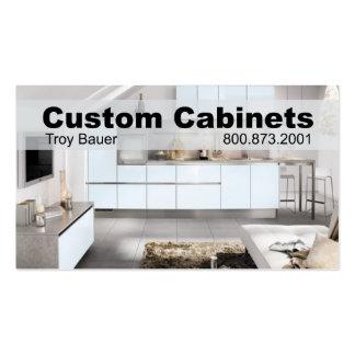 Custom Cabinets - Carpenter, Home Improvement Business Card Template
