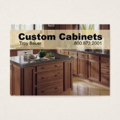 Custom Cabinets - Carpenter, Home Improvement Business Card at Zazzle