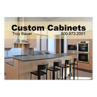 Custom Cabinets - Carpenter, Home Improvement Large Business Card