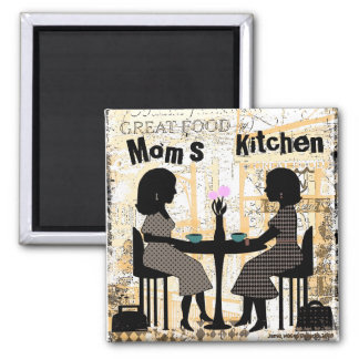 Custom Cafe Friends 2 Inch Square Magnet