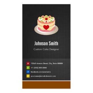 Custom Cake Designer - Creative Innovative Business Card Templates