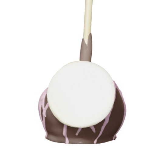 Dozen Chocolate Cake Pops with Milk Chocolate icing and Pink drizzle
