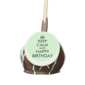 Custom Cake Pops Keep Calm and Happy Birthday