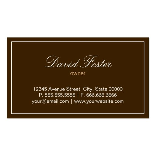 Custom Cakes and Cookies Dessert Bakery Shop Business Card (back side)