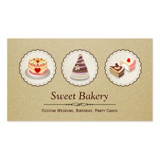 Custom Cakes Master Wedding Birthday Party Banquet Double-Sided Standard Business Cards (Pack Of 100)