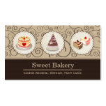 Custom Cakes Master Wedding Birthday Party Banquet Business Card