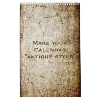 "Custom Calendar ""ANTIQUE STYLE"" + your photos"