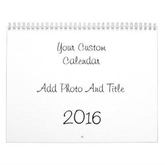 Custom Calendar For 2016 Add Photo And Text