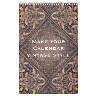"""Custom Calendar """"VINTAGE STYLE"""" + your photos"""